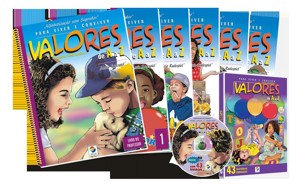 Valores de A a Z – Ensino Fundamental - 6 livros + CD