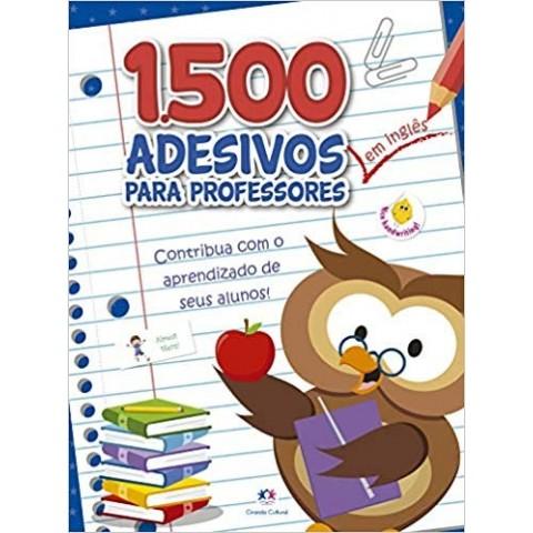 1500 adesivos para professores em INGLÊS - Azul