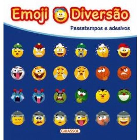 Emoji Diversao Azul - Passatempos E Adesivos 559492.1