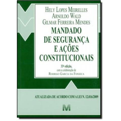 Mandado De Seguranca - 33ª Edicao105666.2