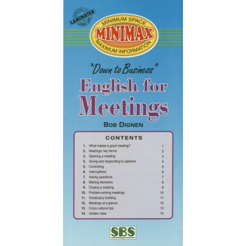 Minimax - English For Meetings 125316.6