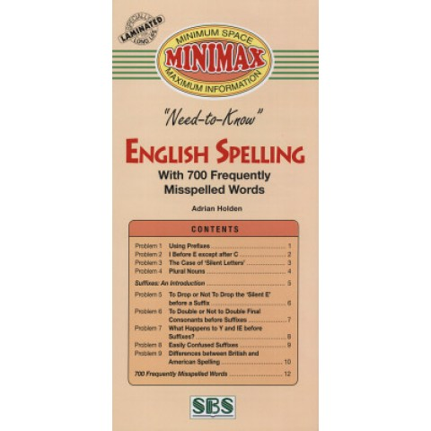 Minimax - English Spelling With 700 Frequently Misspelled Word 125390.5