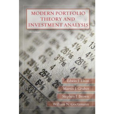 Modern Portfolio Theory And Investment Analysis - 7Th Ed761945.8