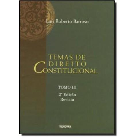 Temas De Direito Constitucional - Tomo Iii - 2ª Edicao139978.0