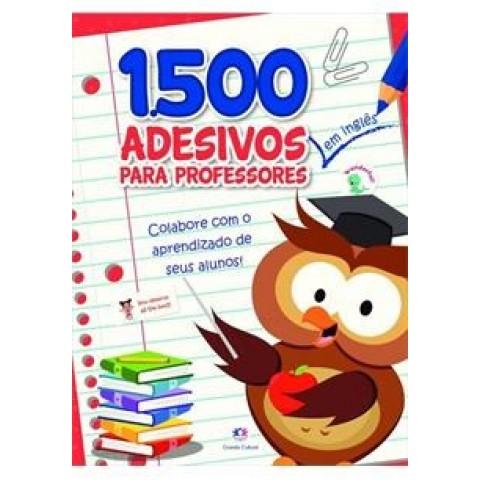 1500 adesivos para professores em INGLÊS - Vermelho