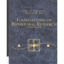 Foundations Of Behavioral Research - 4Th Ed833950.7