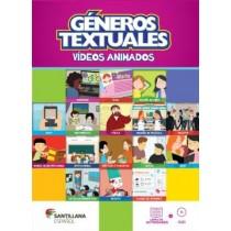 Generos Textuales - Video Animados - Libro De Actividades + Dvd327699.6