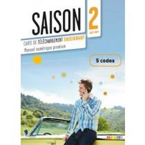 Saison 2 Carte De Telechargement Numerique Enseignant 5 Codes (A2+)244905.6